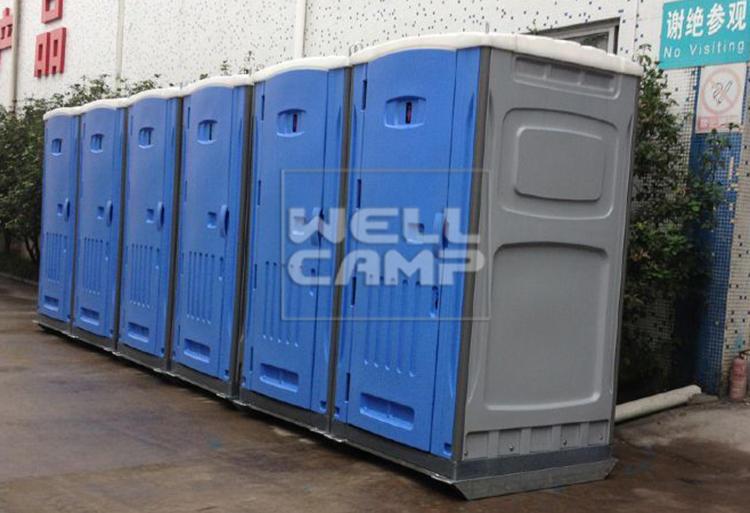 luxury portable toilets double decoration working aluminum
