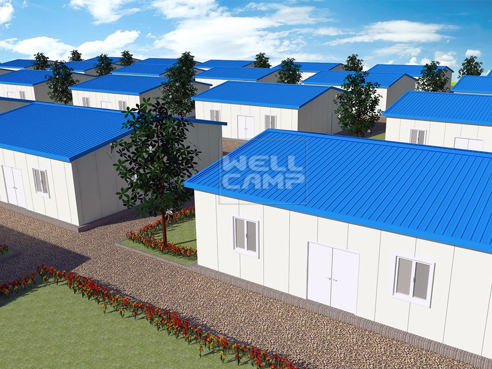 WELLCAMP, WELLCAMP prefab house, WELLCAMP container house-Simple Sandwich Panel Prefabricated House,-1