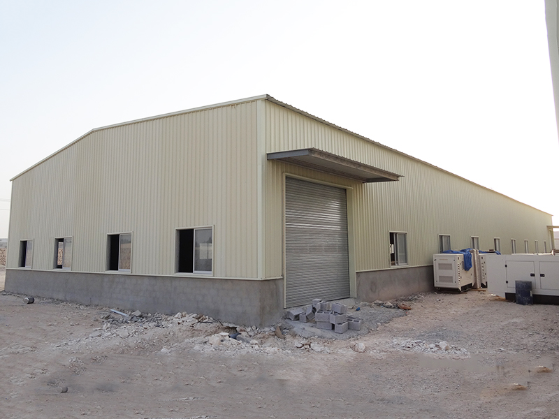 WELLCAMP, WELLCAMP prefab house, WELLCAMP container house steel warehouse with brick wall-8