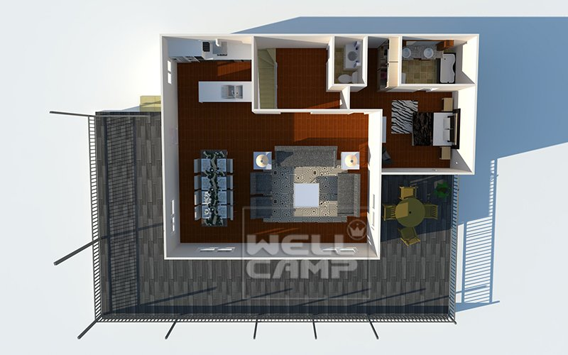 WELLCAMP, WELLCAMP prefab house, WELLCAMP container house Durable Green Modern prefab movable House on seaside, Wellcamp K-7 K Prefabricated House image37