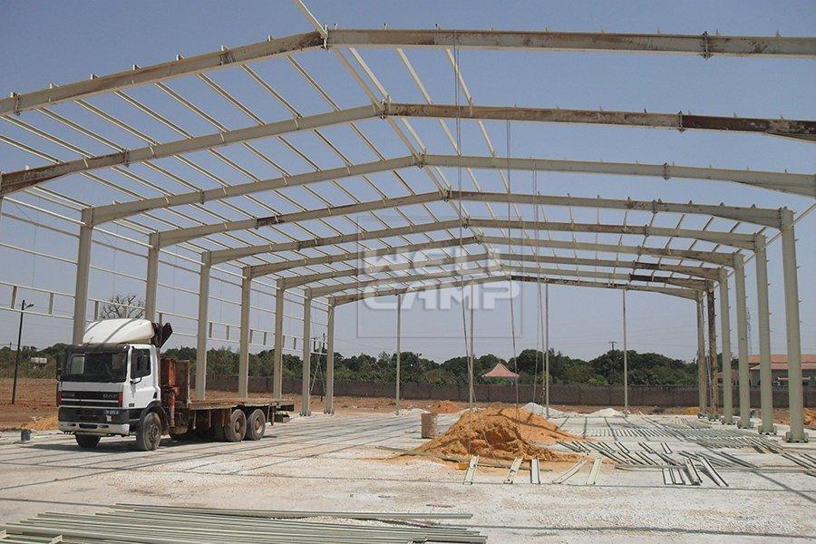 Low Cost Prefabricated Steel Structure Workshop, Wellcamp S-7