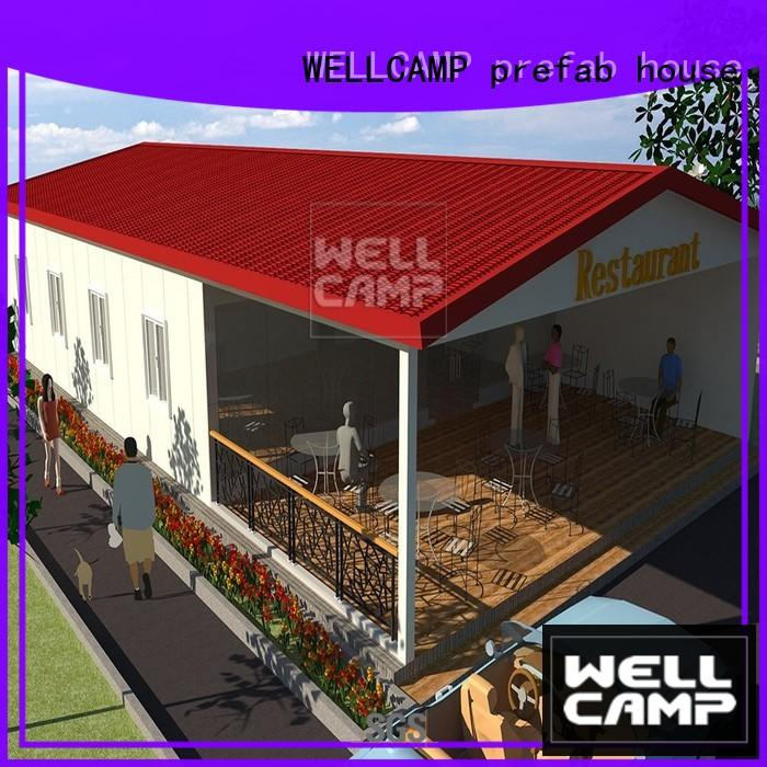 WELLCAMP, WELLCAMP prefab house, WELLCAMP container house steel villa house online for countryside