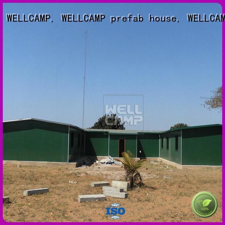 WELLCAMP, WELLCAMP prefab house, WELLCAMP container house temporary prefab house kits classroom for office