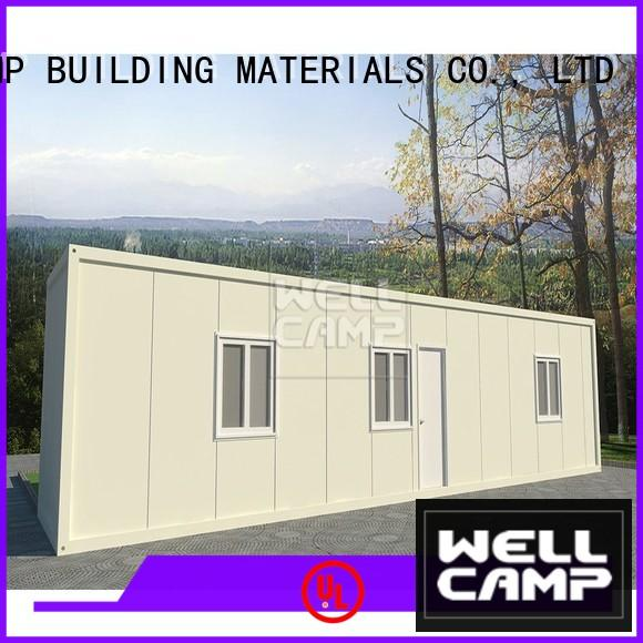WELLCAMP, WELLCAMP prefab house, WELLCAMP container house sandwich steel container houses wholesale for renting