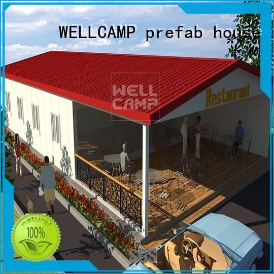 WELLCAMP, WELLCAMP prefab house, WELLCAMP container house fast install steel villa house maker for restaurant