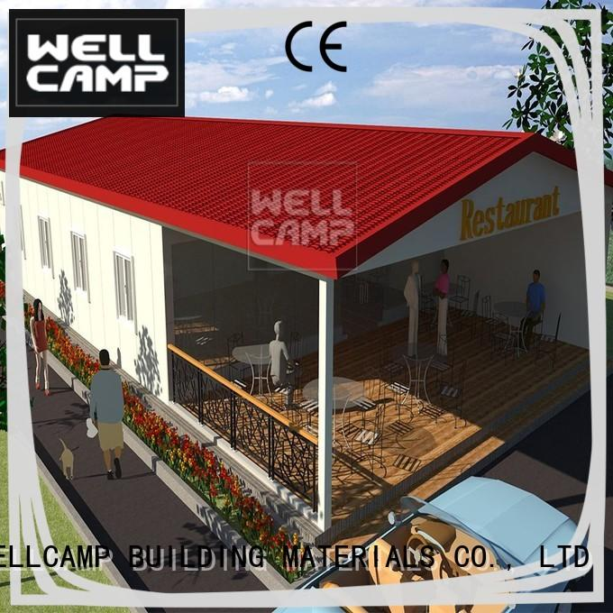 fast install steel villa house factory online for restaurant WELLCAMP, WELLCAMP prefab house, WELLCAMP container house