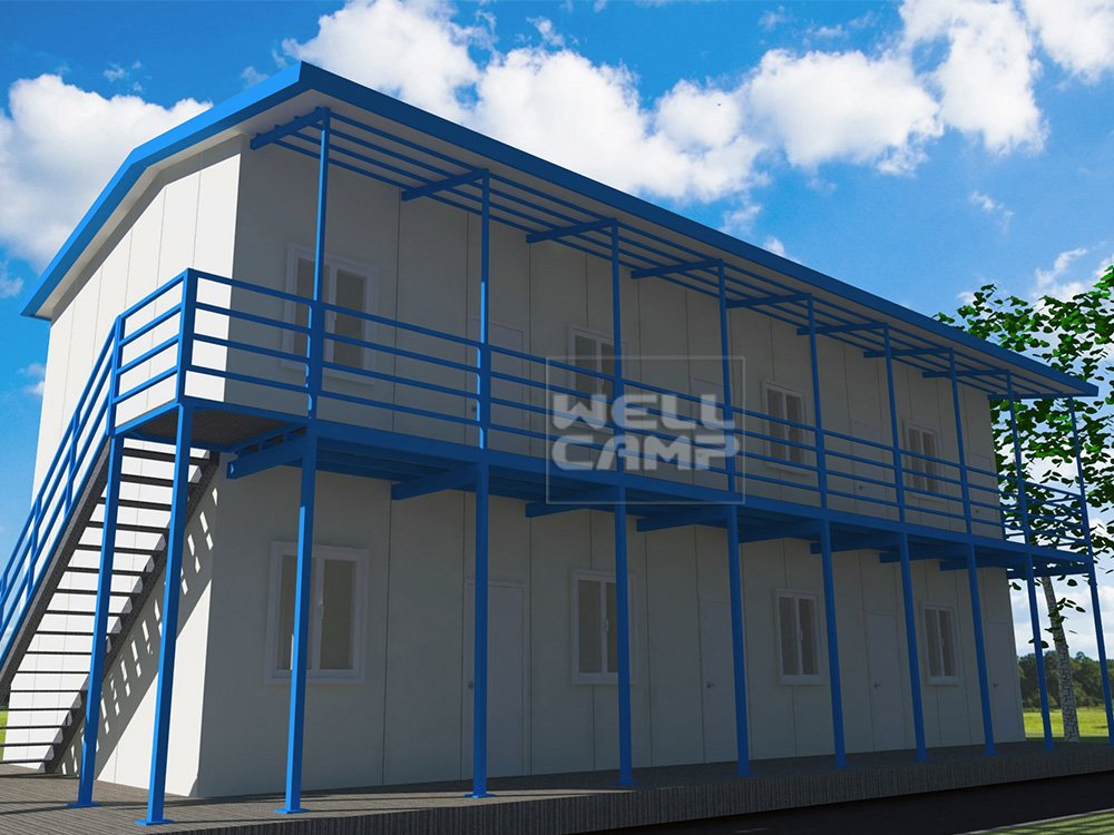 WELLCAMP, WELLCAMP prefab house, WELLCAMP container house Sandwich Panel Modular Prefab House for Dormitory, Wellcamp T-14 T prefabricated House image28