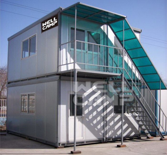 WELLCAMP, WELLCAMP prefab house, WELLCAMP container house Two Floor Flat Pack Container House For Office, Wellcamp C-7 Detachable Container House image83