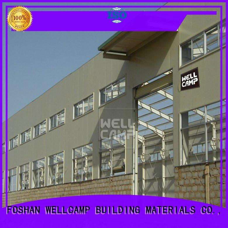 WELLCAMP, WELLCAMP prefab house, WELLCAMP container house steel workshop with brick wall for goods