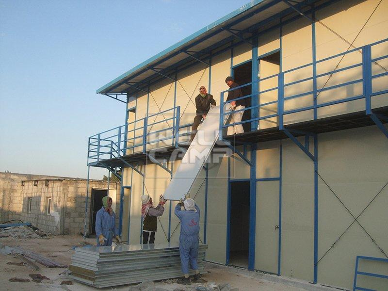 Strong Prefabricated Modular Homes For Labor Camp, Wellcamp K-10