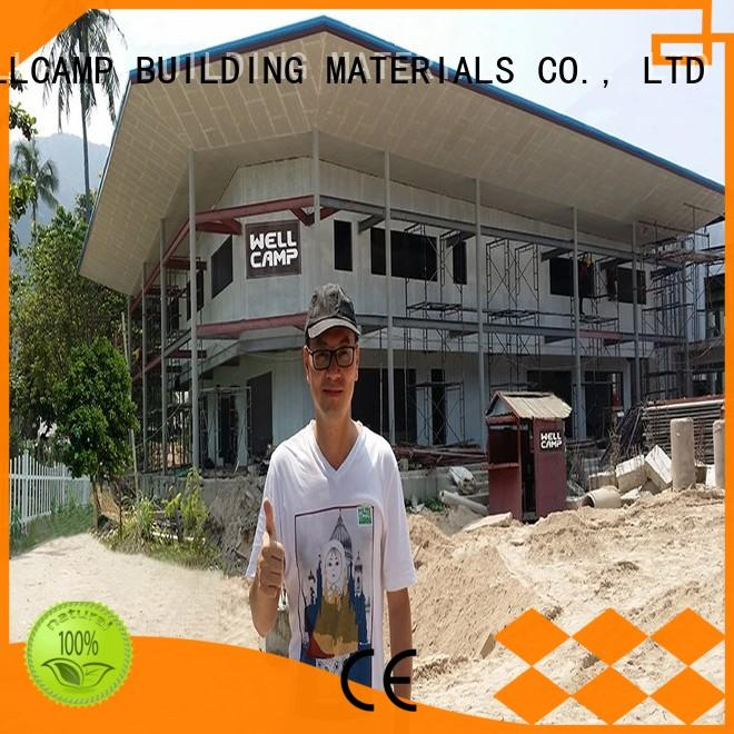 WELLCAMP, WELLCAMP prefab house, WELLCAMP container house concrete modular house manufacturer for restaurant