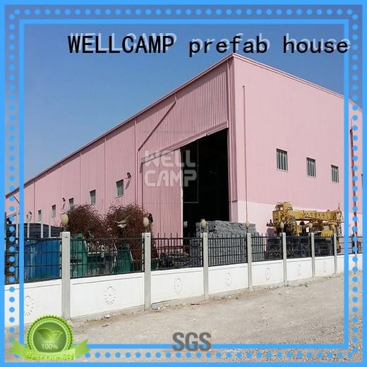 WELLCAMP, WELLCAMP prefab house, WELLCAMP container house frame prefab steel warehouse