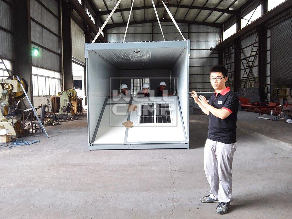 Sandwich Panel Prefabricated Folding Container House, Wellcamp F-1