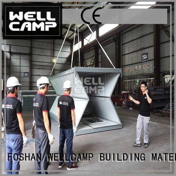 foldable container house wholesale WELLCAMP, WELLCAMP prefab house, WELLCAMP container house