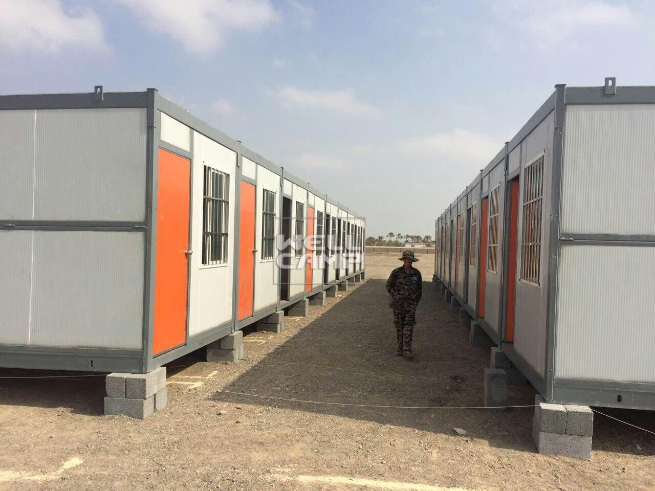 Wellcamp Folding Container House for Labor Camp in Saudi Arabia