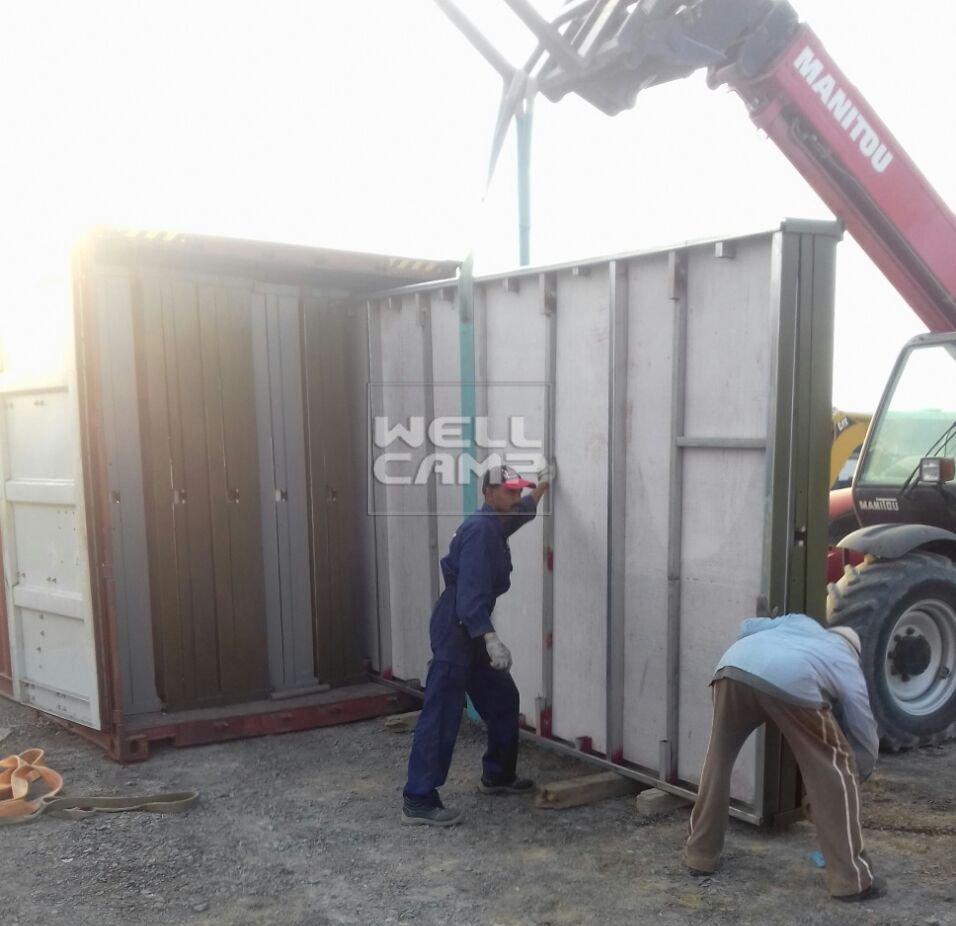 Proyecto de cabina de contenedores expandible prefabricada de Wellcamp en Kuwait