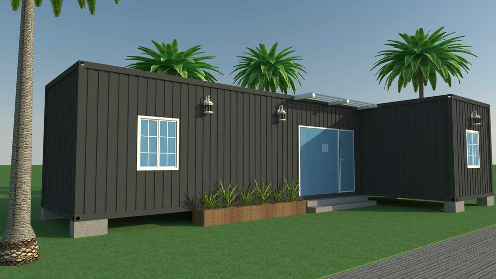 Eco-Friendly Light Steel Container Villa For Container Resort, Wellcamp CV-1