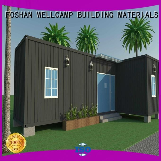 WELLCAMP, WELLCAMP prefab house, WELLCAMP container house luxury container homes in garden