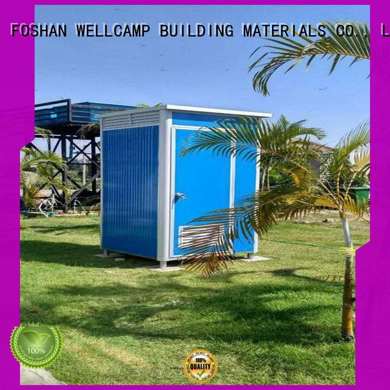WELLCAMP, WELLCAMP prefab house, WELLCAMP container house movable portable toilet manufacturers public toilet wholesale