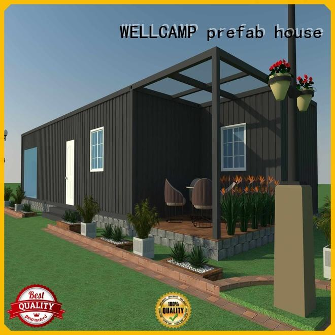 WELLCAMP, WELLCAMP prefab house, WELLCAMP container house eco friendly customized steel villa house labour camp for hotel