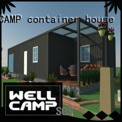 low ecofriendly villa WELLCAMP, WELLCAMP prefab house, WELLCAMP container house luxury living container villa suppliers