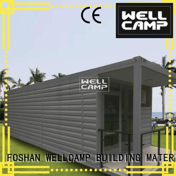 WELLCAMP, WELLCAMP prefab house, WELLCAMP container house modify shipping container home builders resort for hotel