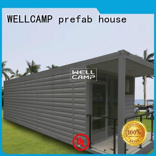 FC board Aluminum sliding Fire proof door shipping container house for villa resort