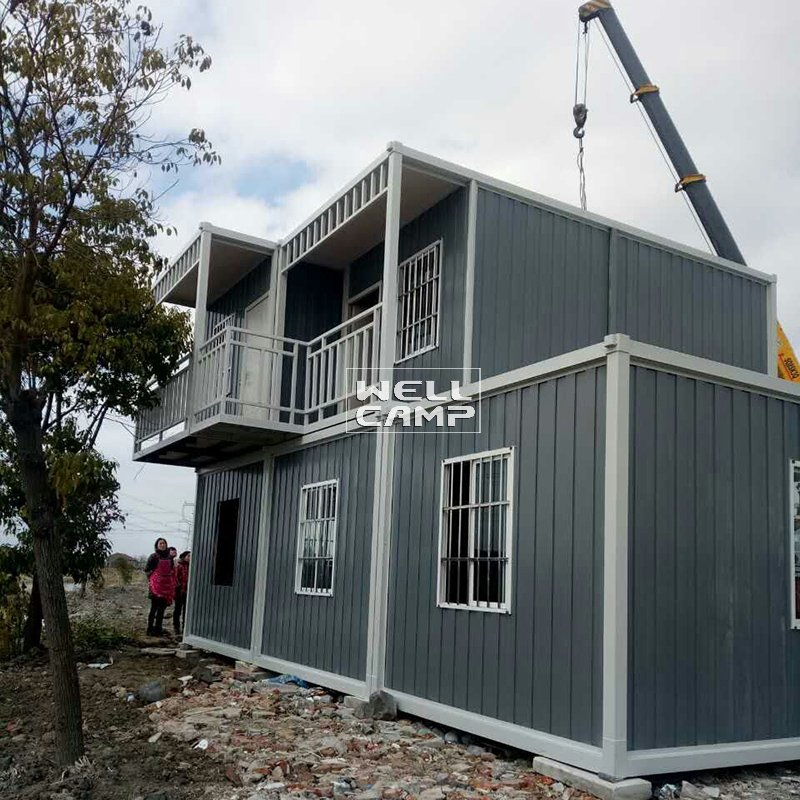 WELLCAMP, WELLCAMP prefab house, WELLCAMP container house Detachable Ripple Container Office House for Living, Wellcamp D-17 Detachable Container House image75