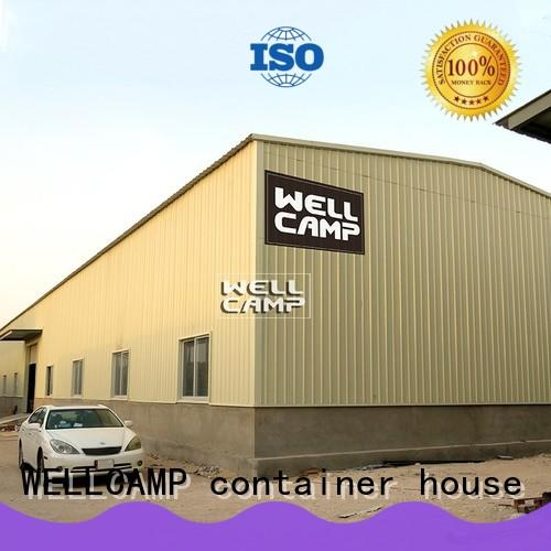 WELLCAMP, WELLCAMP prefab house, WELLCAMP container house prefabricated warehouse with brick wall