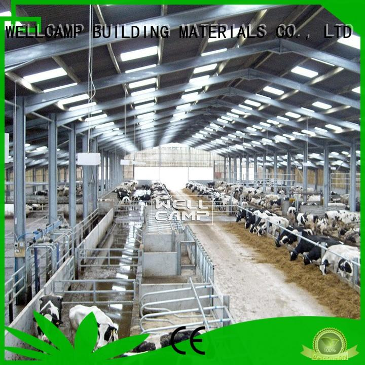 WELLCAMP, WELLCAMP prefab house, WELLCAMP container house color steel sheds supplier for cow shed