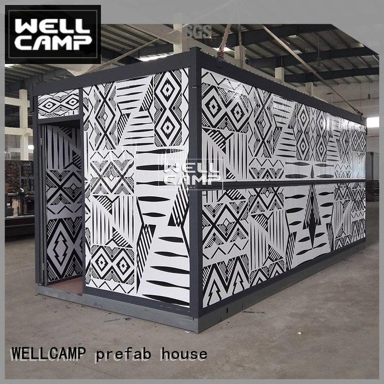 WELLCAMP, WELLCAMP prefab house, WELLCAMP container house unique style metal container homes online for worker