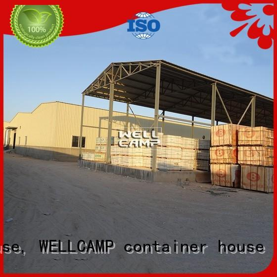 WELLCAMP, WELLCAMP prefab house, WELLCAMP container house steel warehouse with brick wall