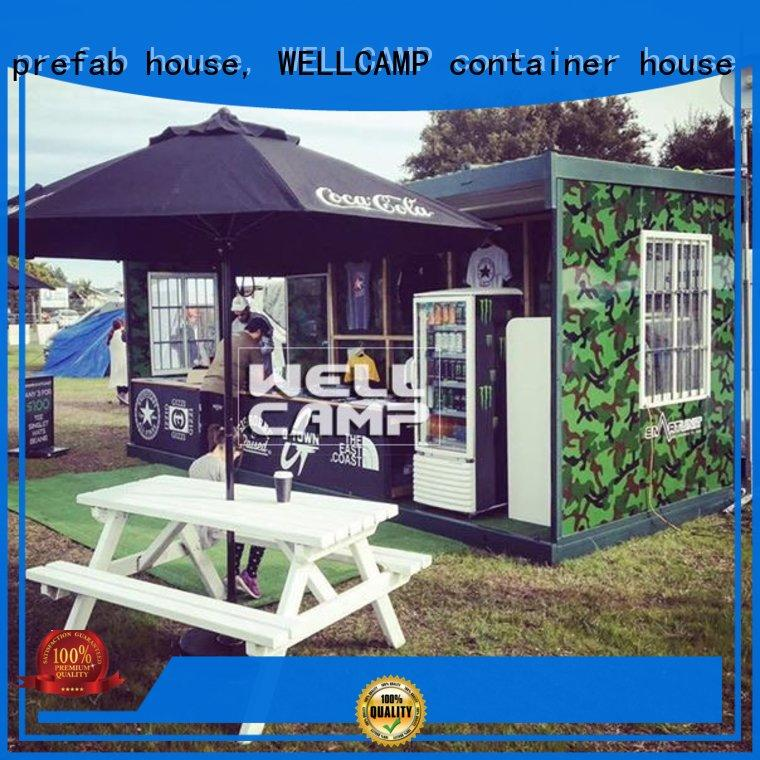 expandable unique low material WELLCAMP, WELLCAMP prefab house, WELLCAMP container house Brand folding container house supplier