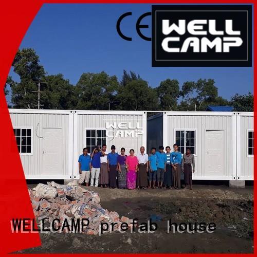 WELLCAMP, WELLCAMP prefab house, WELLCAMP container house recyclable container house supplier for living