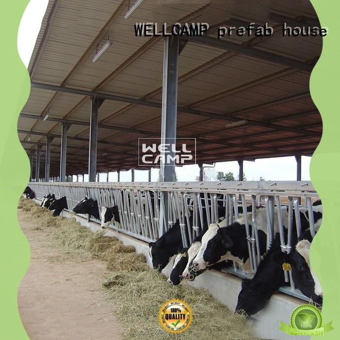 WELLCAMP, WELLCAMP prefab house, WELLCAMP container house steel shed design supplier for cow shed