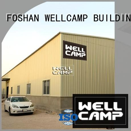 WELLCAMP, WELLCAMP prefab house, WELLCAMP container house large prefabricated warehouse with brick wall for sale