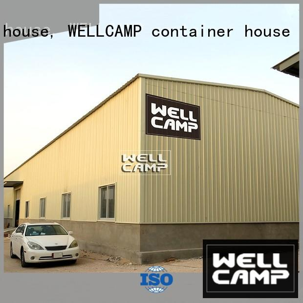 prefabricated low steel warehouse sandwich durable WELLCAMP, WELLCAMP prefab house, WELLCAMP container house company