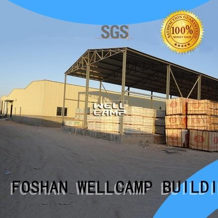 large prefab steel warehouse with brick wall for goods WELLCAMP, WELLCAMP prefab house, WELLCAMP container house