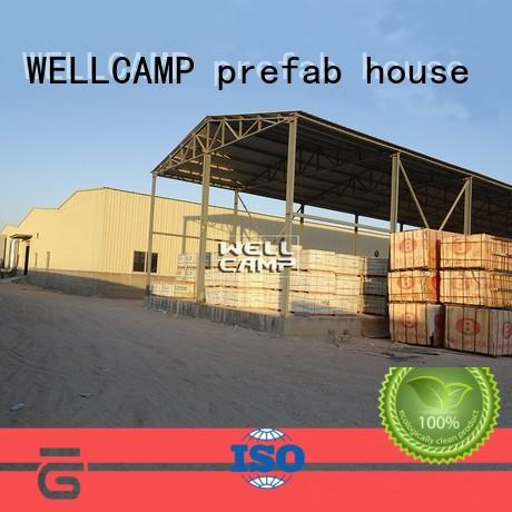 sandwich steel workshop with brick wall for goods