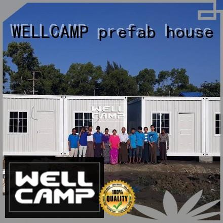 WELLCAMP, WELLCAMP prefab house, WELLCAMP container house steel container houses home for living