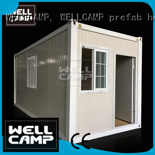 WELLCAMP, WELLCAMP prefab house, WELLCAMP container house floor small container homes with walkway for office