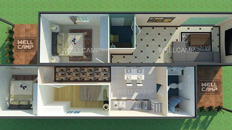 customized light steel villa ecofriendly cost OEM luxury living container villa suppliers