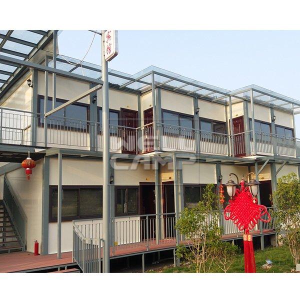 WELLCAMP, WELLCAMP prefab house, WELLCAMP container house Two Floor Prefab Container Hotel Villa in Garden, Wellcamp D-18 Container Villa image97
