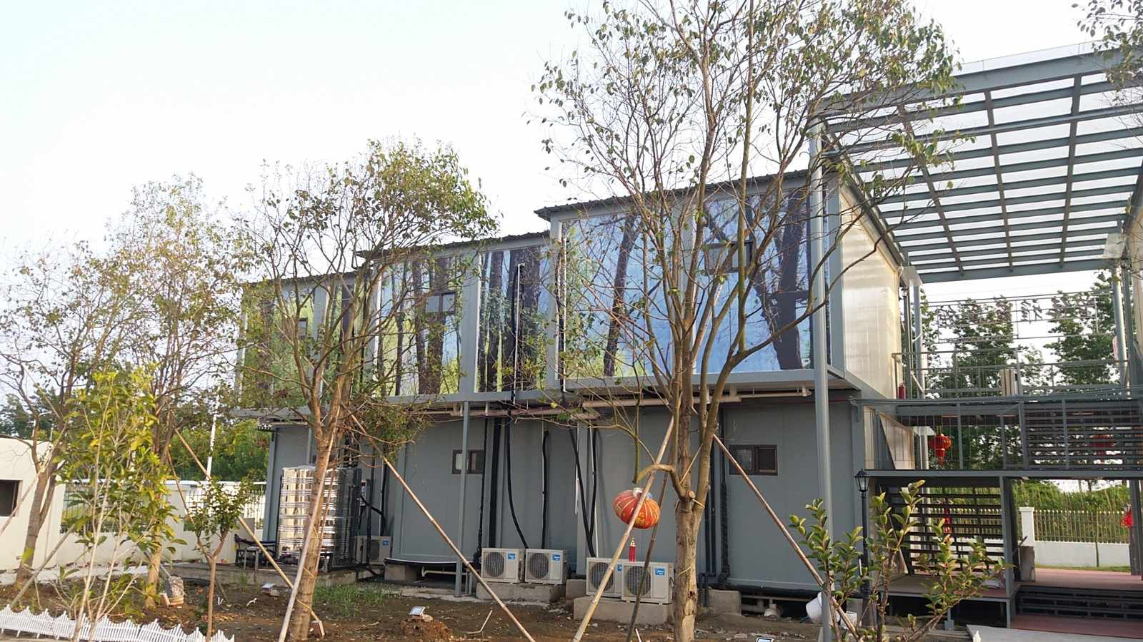 WELLCAMP, WELLCAMP prefab house, WELLCAMP container house-Two Floor Prefab Container Hotel Villa , C-3