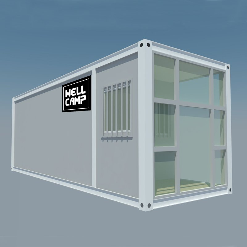 WELLCAMP, WELLCAMP prefab house, WELLCAMP container house Extended Long Flat Pack Container House For Office, Wellcamp FL-05 Flat Pack Container House image57