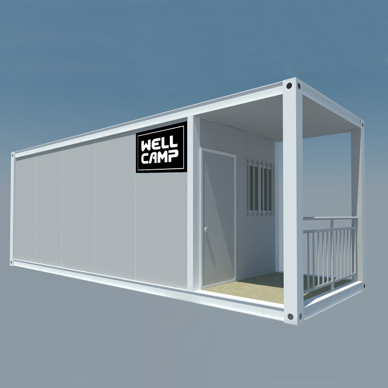 WELLCAMP, WELLCAMP prefab house, WELLCAMP container house Extended Long Flat Pack Container Apartment With Walkway, Wellcamp FL-06 Flat Pack Container House image56