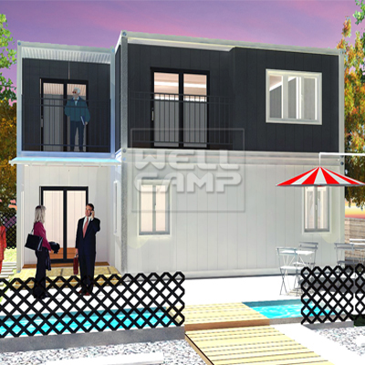 WELLCAMP, WELLCAMP prefab house, WELLCAMP container house-Find Container Villa 2 Story Modern Manuf-1