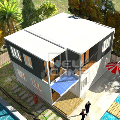 WELLCAMP, WELLCAMP prefab house, WELLCAMP container house-Find Container Villa 2 Story Modern Manuf-2