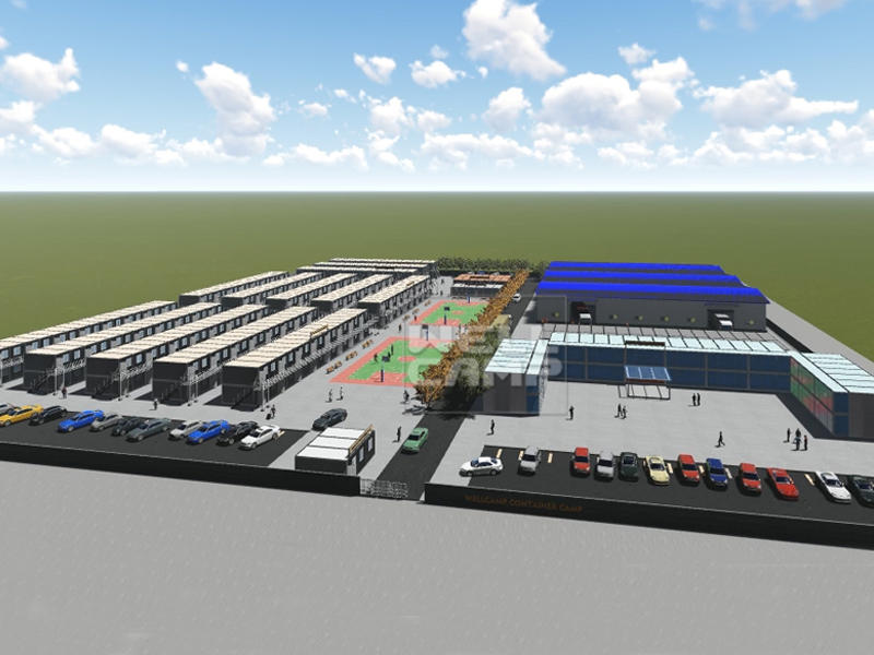 Wellcamp Concept Prefab Container Labor Camp Going to Build in Middle East