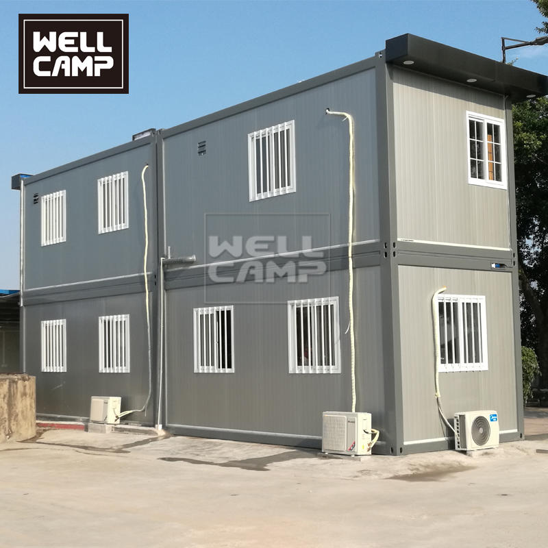 Two Floor Container Office Container Home Combined by Flat Pack Container House